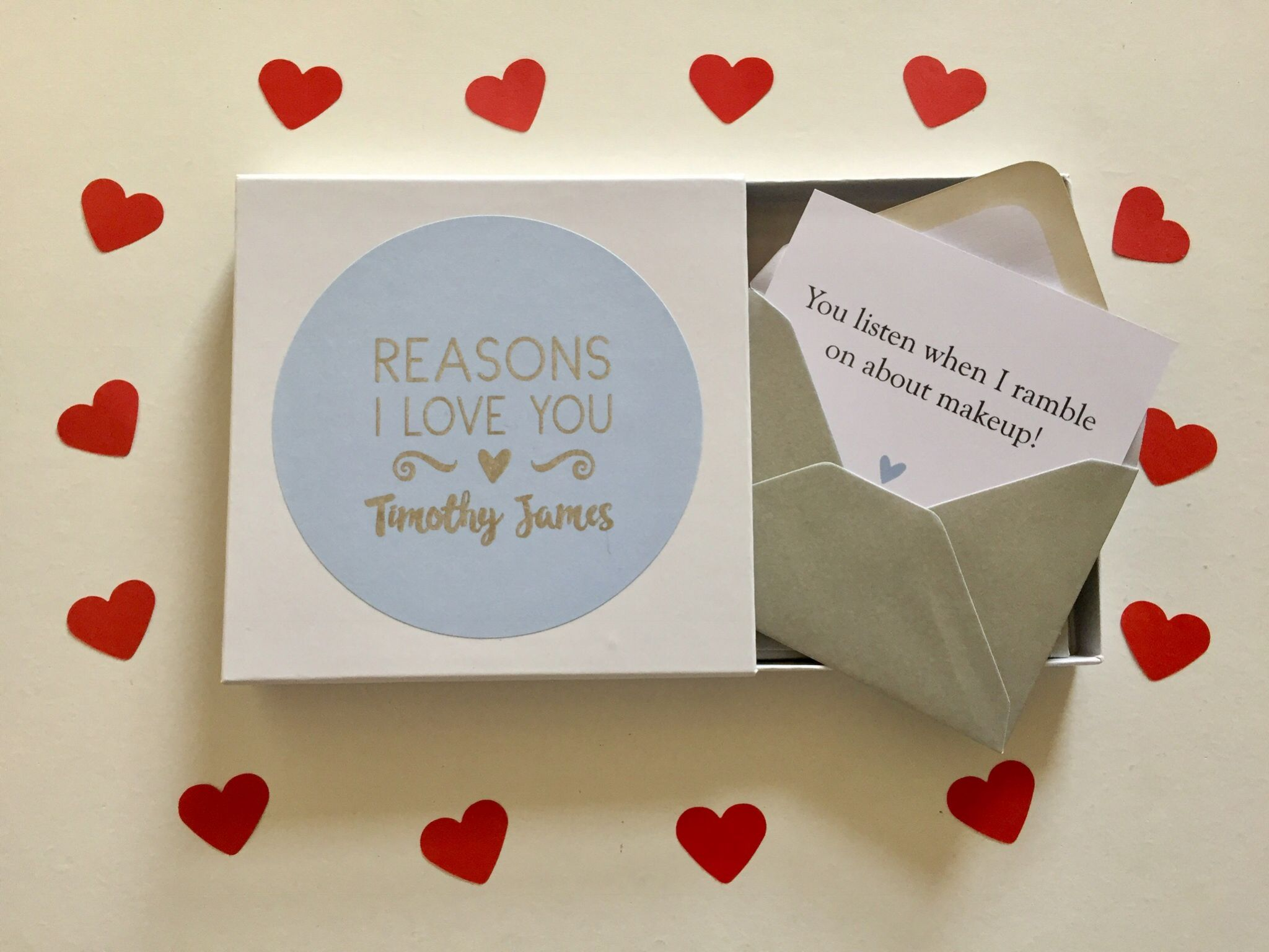 Lovegiveink reasons I love you note cards