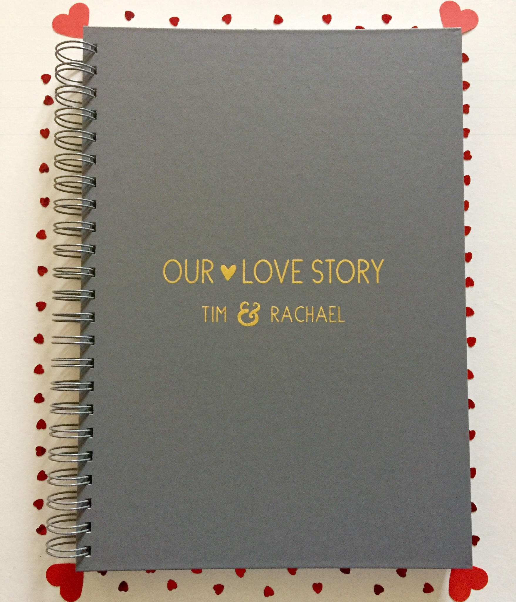 Lovegiveink our love story here notebook