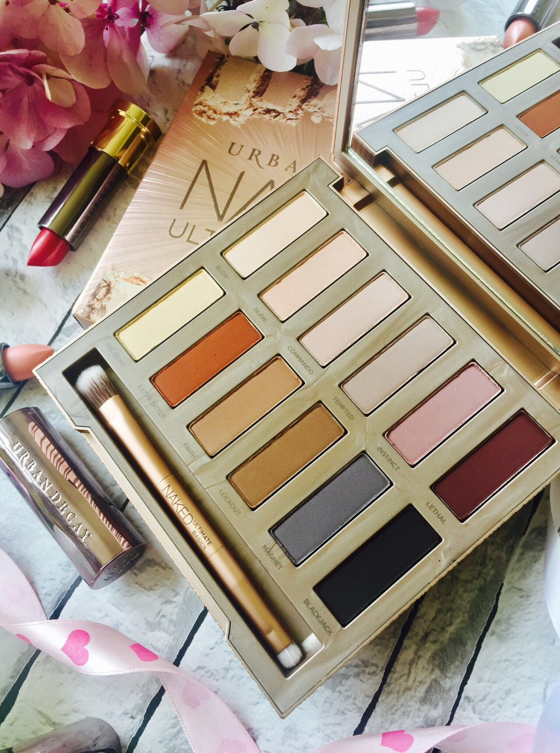 Urban Decay Naked Ultimate Basics Eyeshadow Palette and swatches
