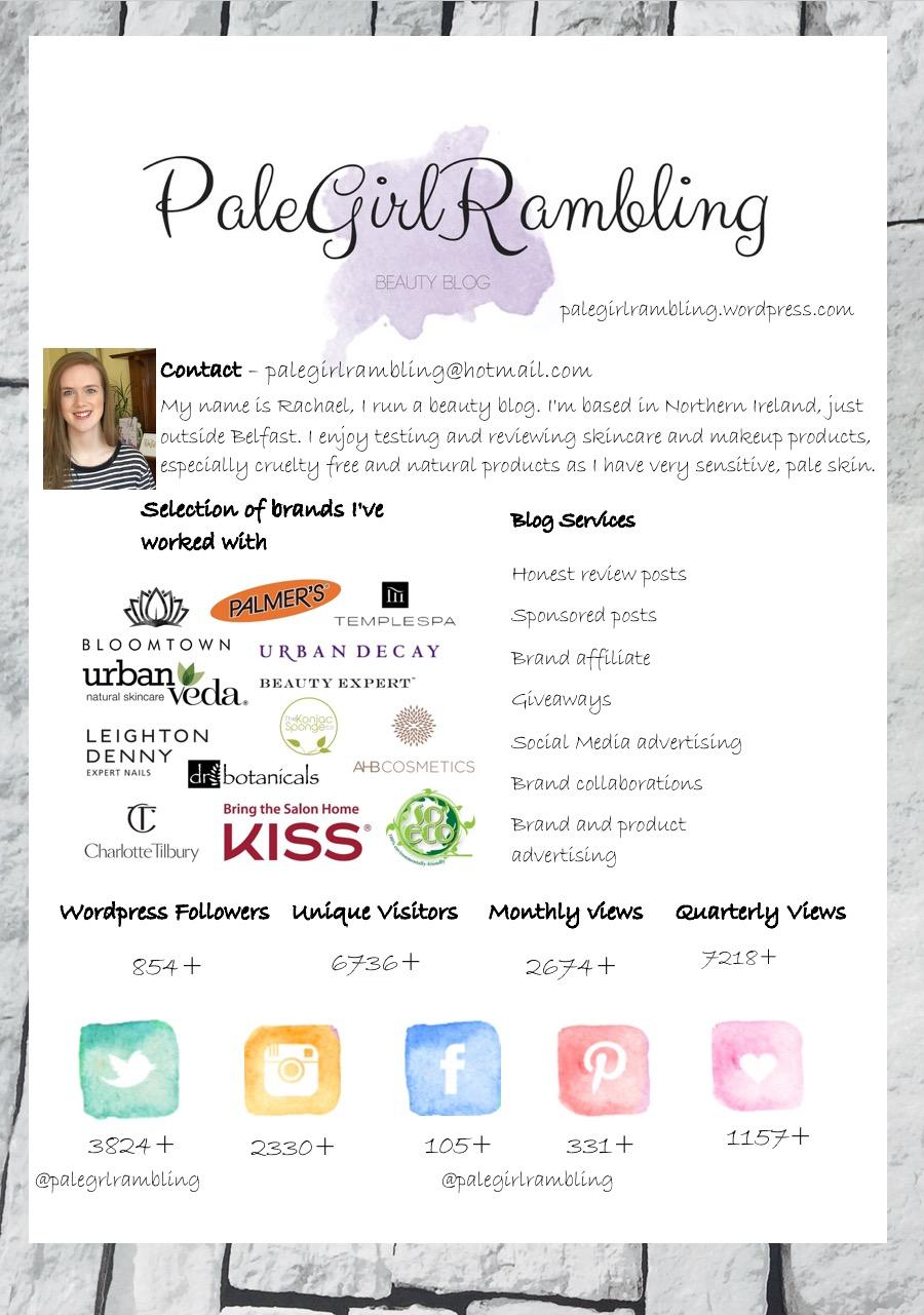 PaleGirlRambling Media Kit Example media kits