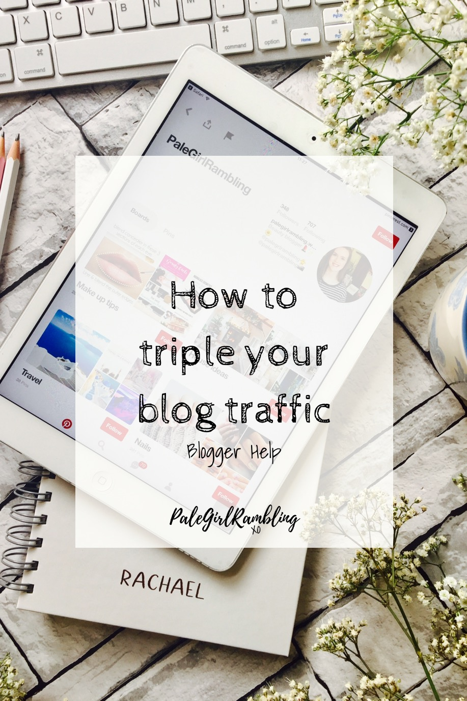 Pinterest blogger Help secret images graphics triple blog traffic