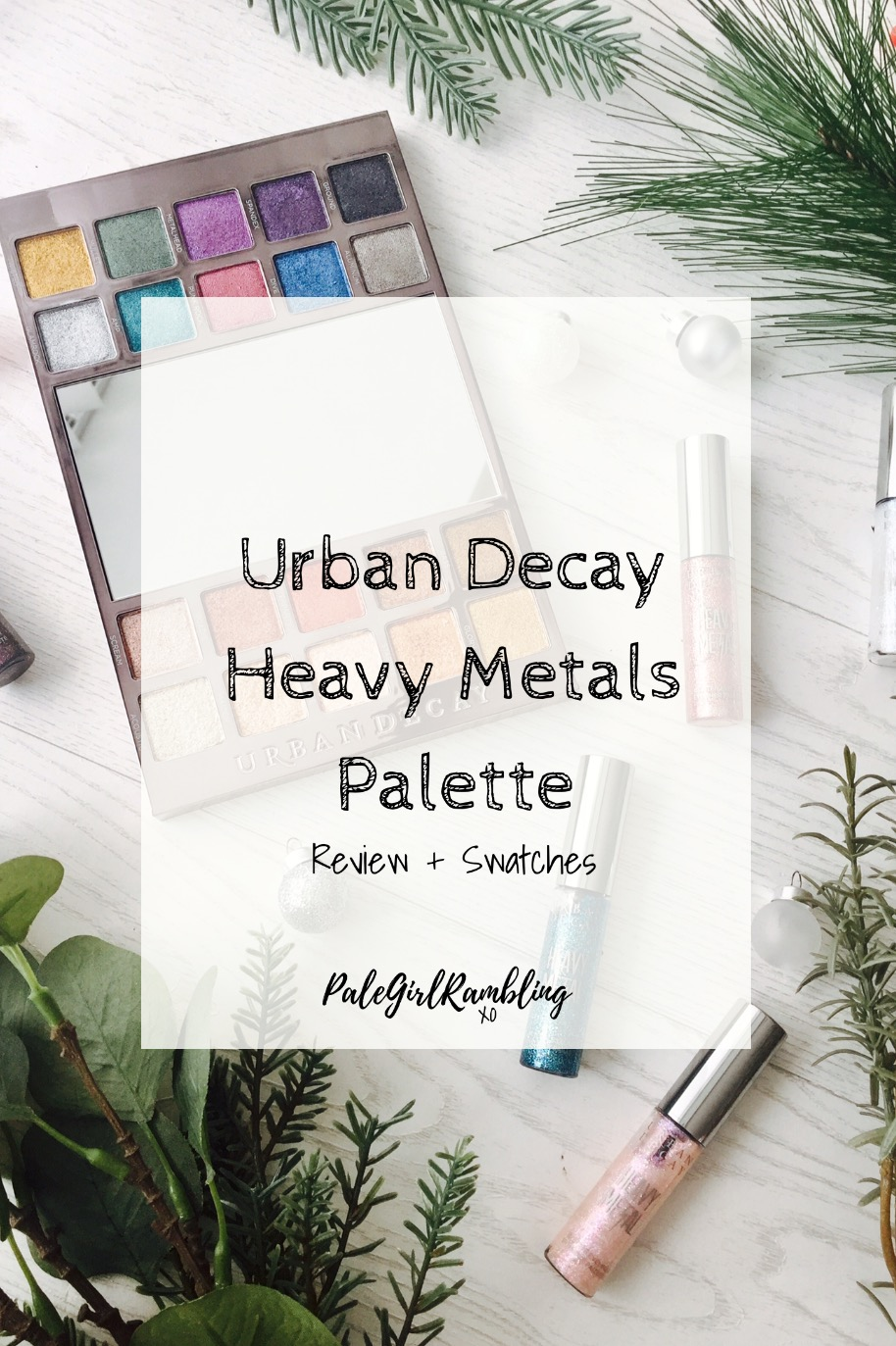 Urban Decay Heavy Metals Palette Swatches