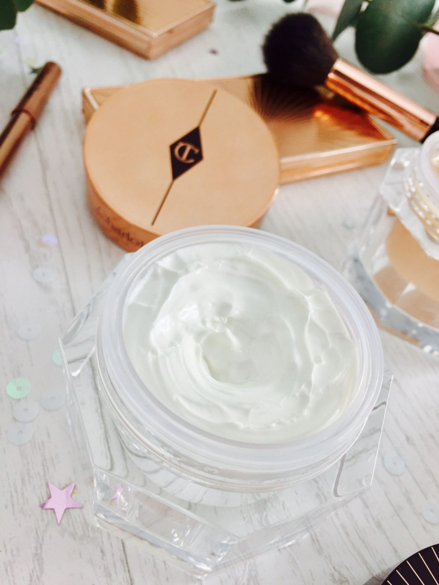 Charlotte Tilbury Skincare Moisturiser Day Cream Night Magic review swatches
