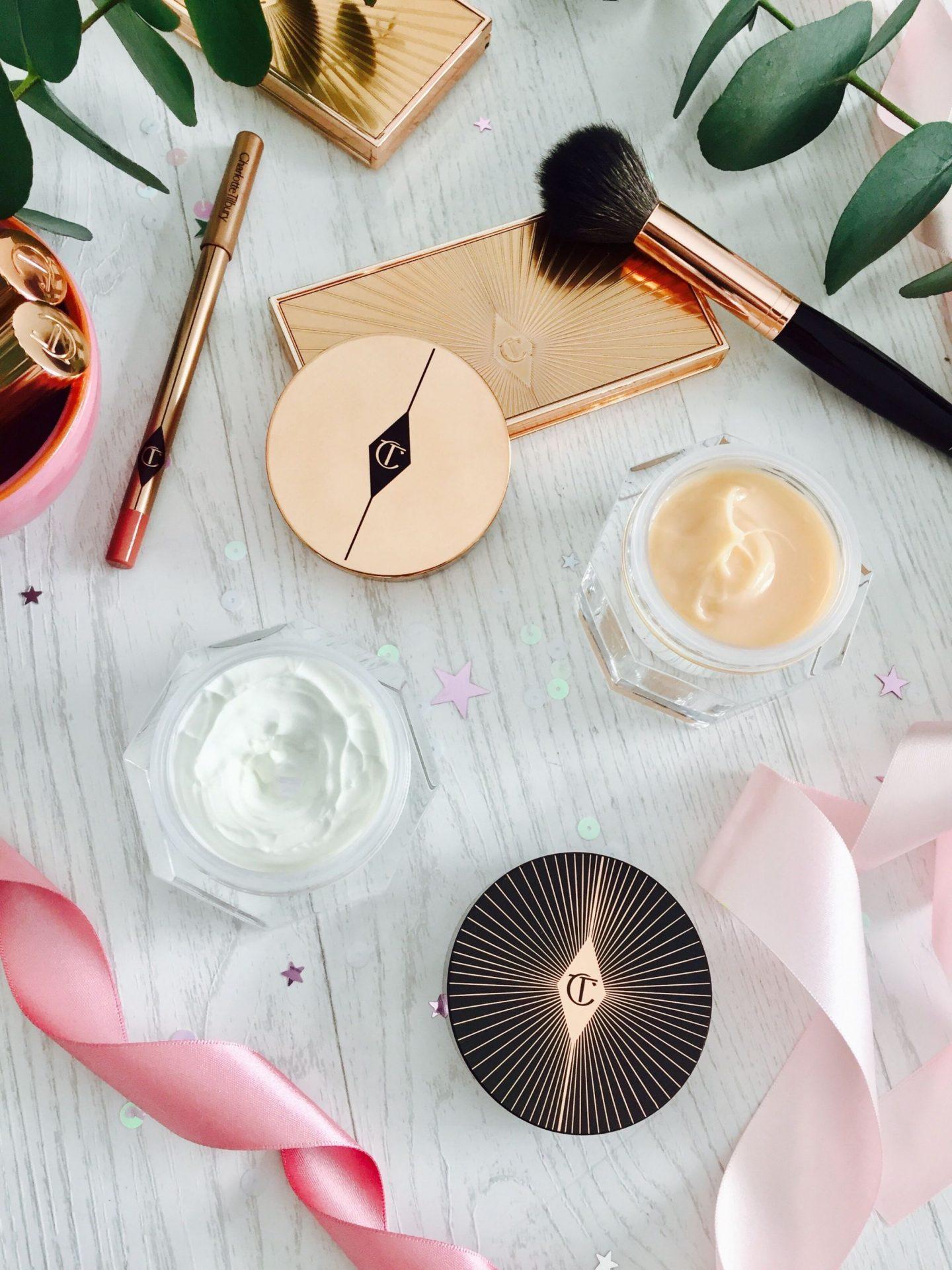 Charlotte Tilbury Skincare Moisturiser Day Cream Night Magic review swatches