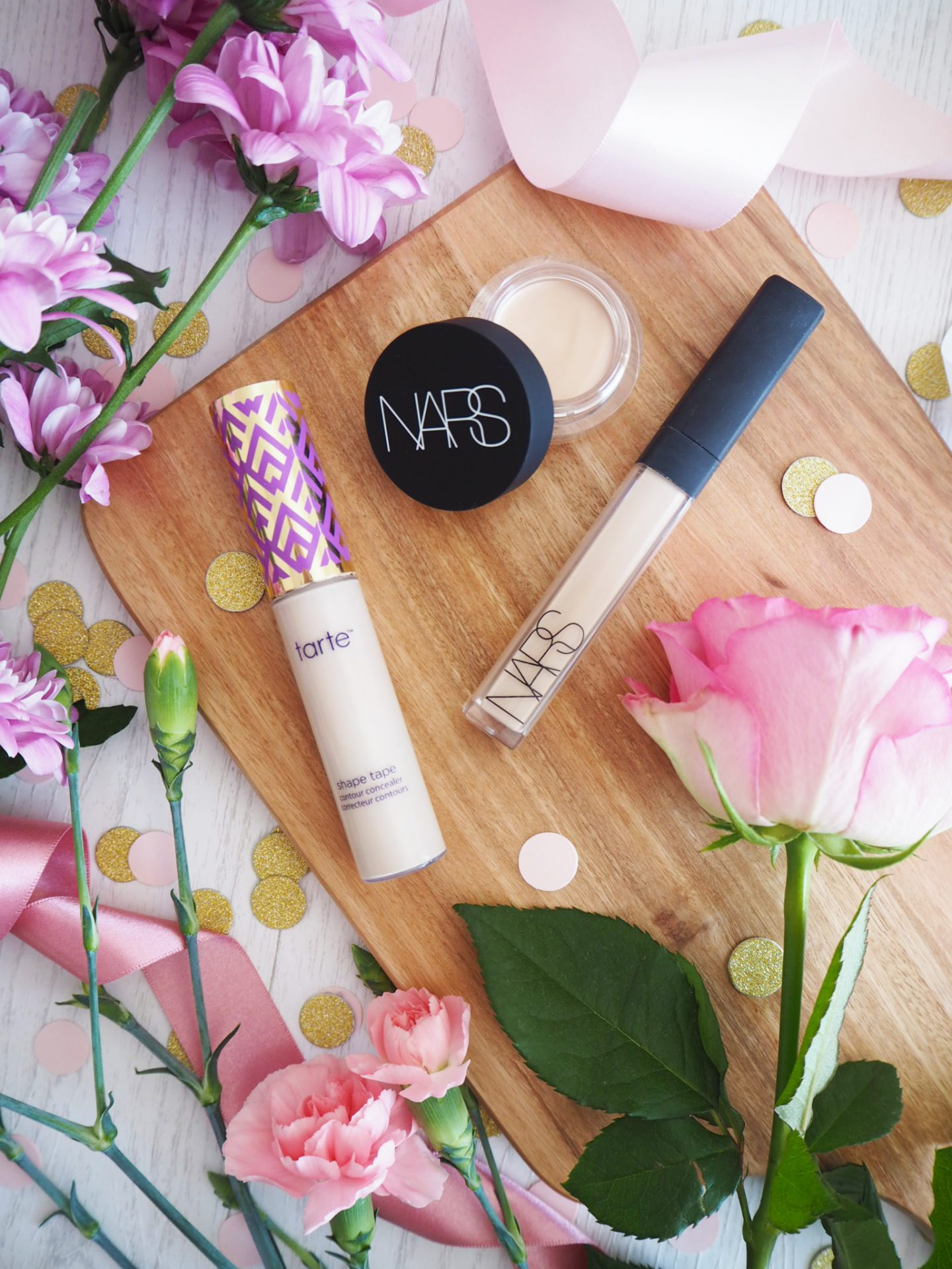 Concealers for Pale Skin Tarte Shape Tape in Fair, Nars Radiant Creamy Concealer in Chantilly, Nars Soft Matte Concealer in Chantilly