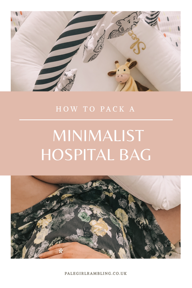 Minimalist Hospital Bag for Mama To Be