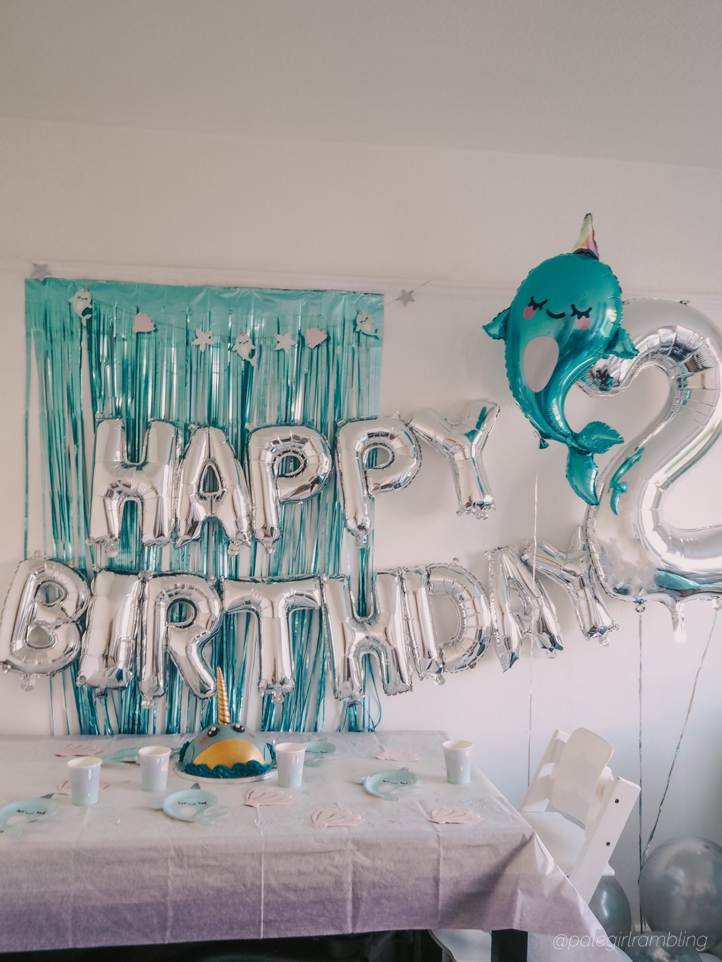 Narwhal Themed Birthday Party How To